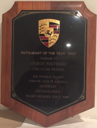 Enthusiast Of the Year Award Plaque